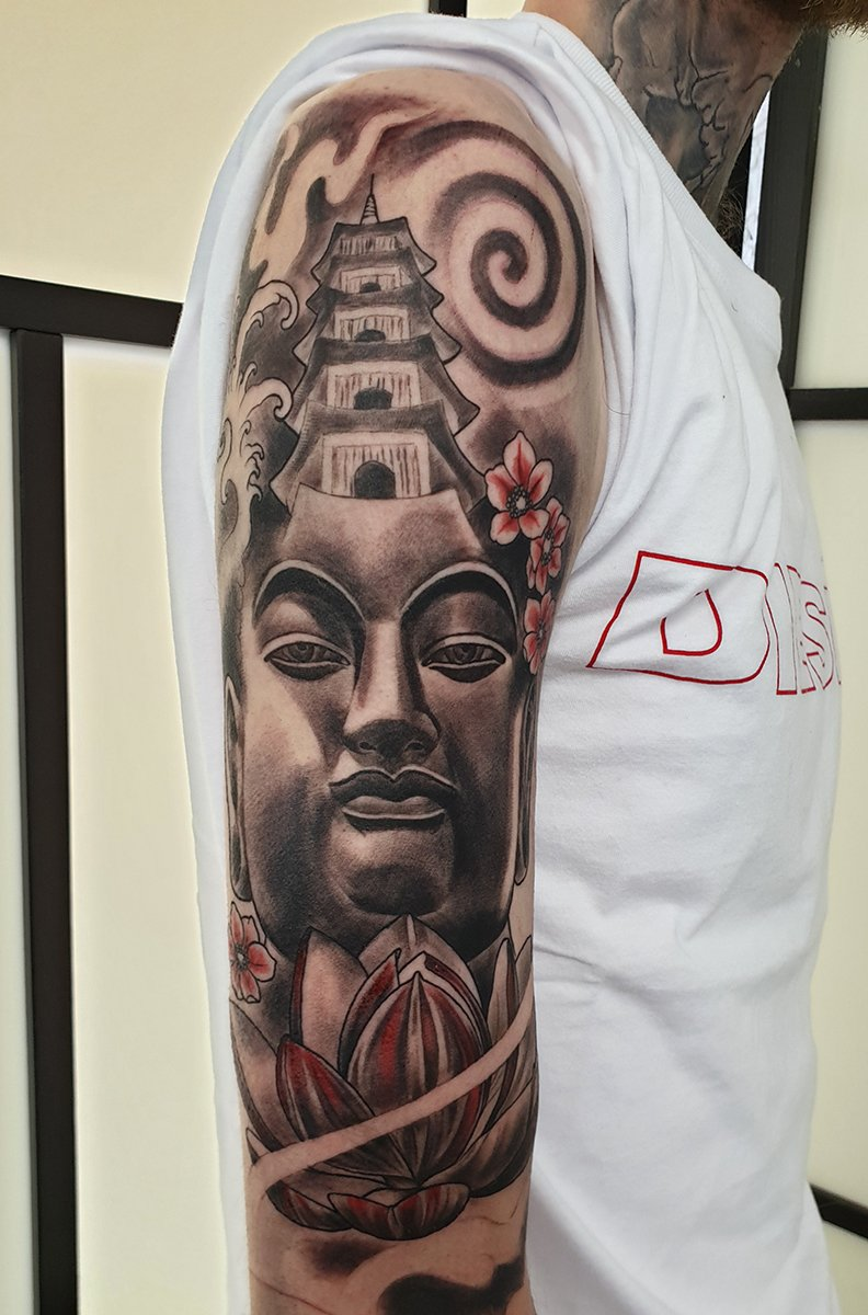 buddha tattoo japanese tattoo sleeve manchester