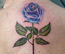 colour rose flower tattoo manchester