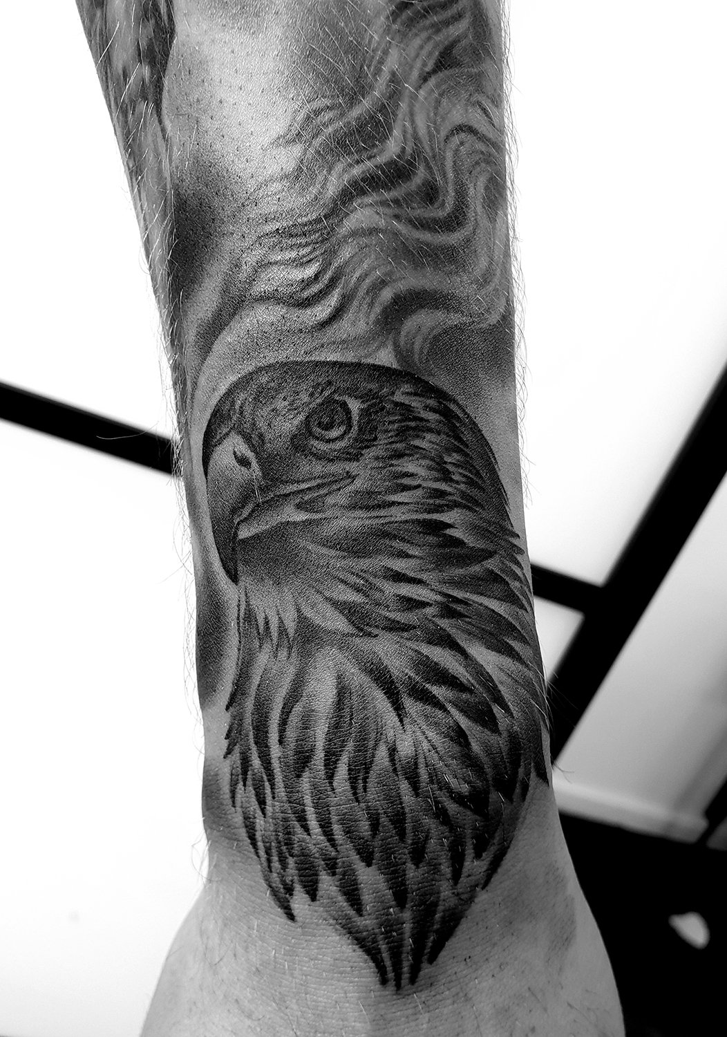 eagle wrist arm tattoo sleeve bird realism mcr
