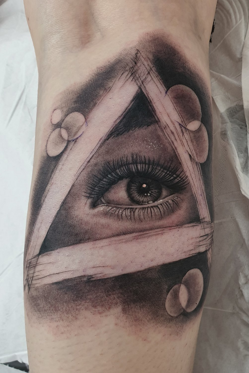 illuminati eye realism tattoo secret society tattoo