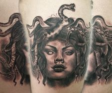 medusa portrait realism tattoo female face ancoats