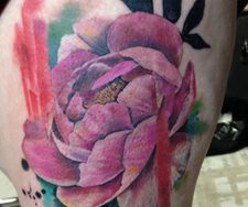 peony flower floral paint watercolour ink splash colour graffiti leg t
